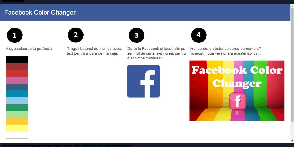 cum schimbi culoarea facebook-ului
