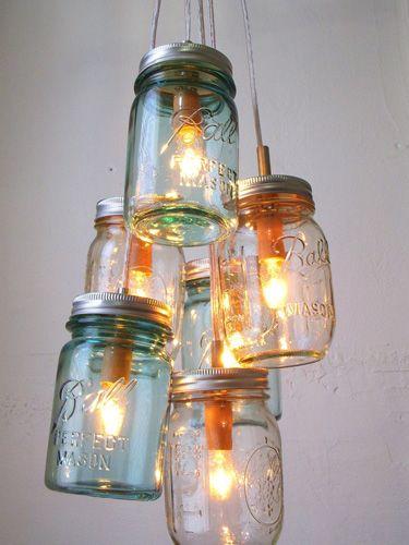 lampa din borcane