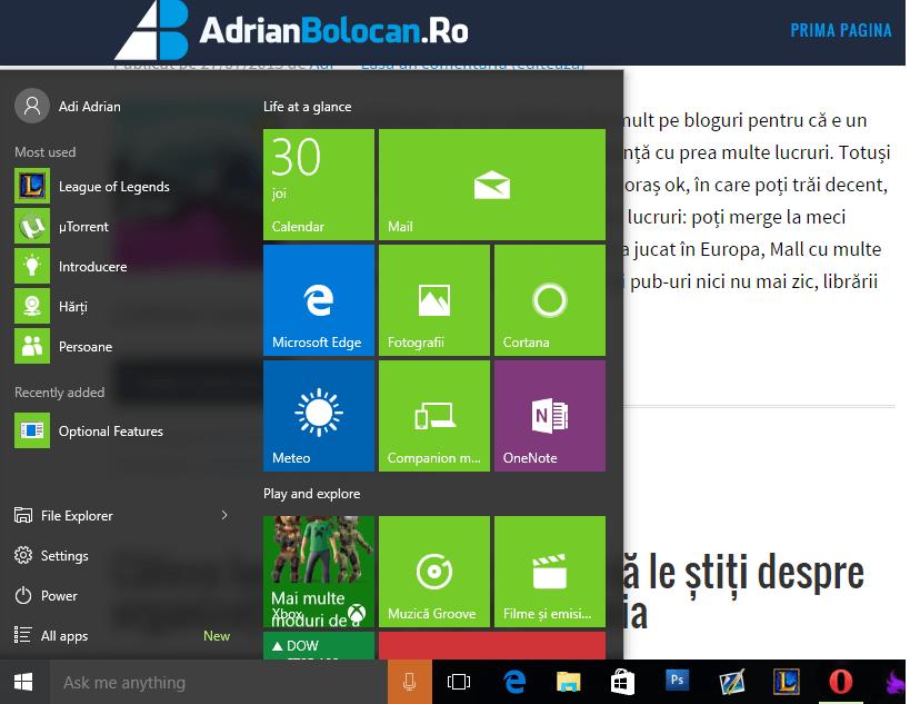 Cum am trecut eu la Windows 10