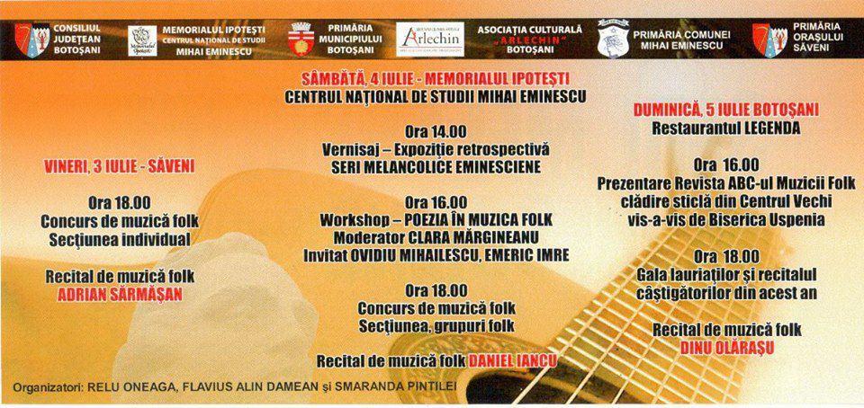 Festivalul de Folk are loc weekendul acesta la Ipotești